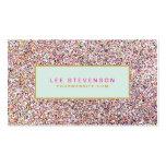 Spaß-bunter Glitter-Schönheits-Salon und Butike Visitenkarten