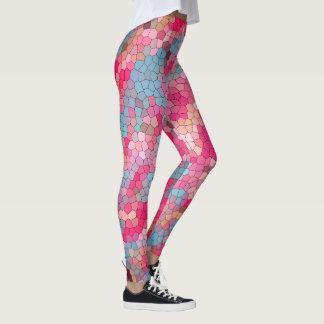 Spaß-buntes Buntglas-Muster Leggings