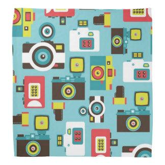 Spaß buntes Retro Lomo Kamera-Muster (blau) Halstuch