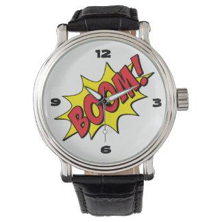 Spaß-Cartoon-u. Comic-Buch-Boom! Armbanduhr