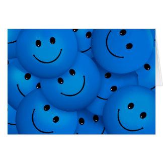 Spaß-coole glückliche blaue Smiley Karte