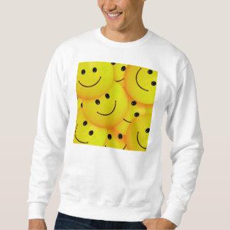 Spaß-coole glückliche gelbe Smiley Sweatshirt