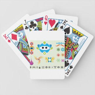 Spaß Dingbats Hauptentwurf Pokerkarten