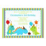 Spaß-Dinosaurier-Geburtstags-Party Einladung