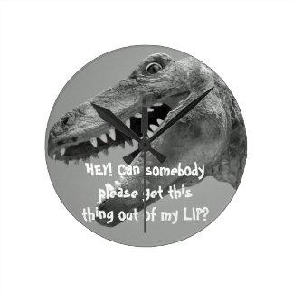 Spaß-Dinosaurier-Uhr Runde Wanduhr