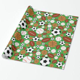 Spaß-dynamische Sport-Bälle Geschenkpapier