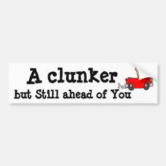 Spaß ein Clunker aber noch ein Kopf von Ihnen - Autoaufkleber