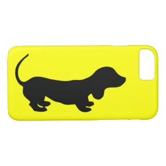Spaß-einfacher Dackel-Entwurfs-Gelb iPhone Fall iPhone 8/7 Hülle