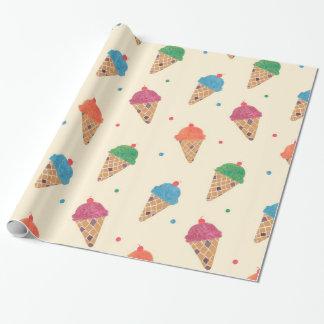 Spaß-Eiscreme-Muster Geschenkpapier