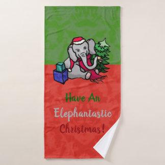 Spaß Elephantastic WeihnachtsCartoon-Elefanten Badhandtuch Set