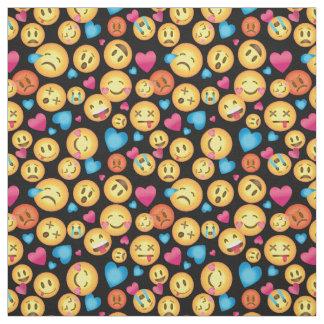 Spaß Emoji Druck-Gewebe Stoff