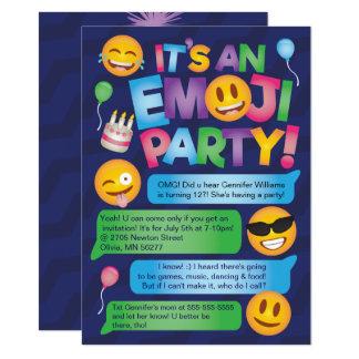 Spaß Emoji Party Einladung