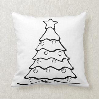 Spaß färben mich Weihnachtsbaum Crafty Kissen