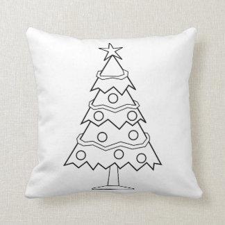 Spaß-Farbzu hause Weihnachtsbaum-Handwerk Kissen