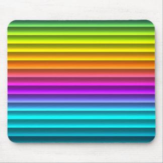 Spaß-flippiger moderner Regenbogen Stripes Muster Mousepad