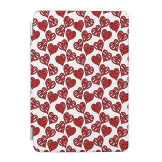 Spaß-flüchtiges Herz-Muster iPad Mini Hülle