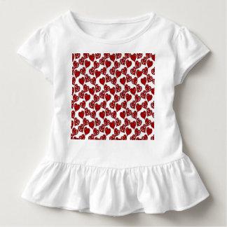 Spaß-flüchtiges Herz-Muster Kleinkind T-shirt