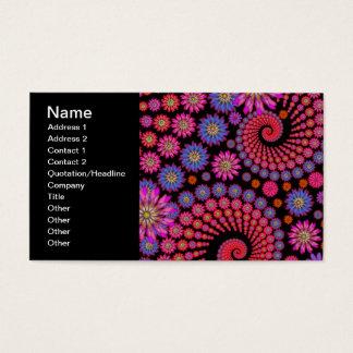 Spaß-Fraktal-Blumen-bunte Kunst Visitenkarte