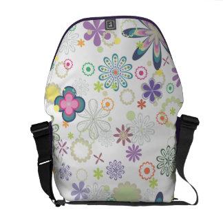 Spaß-frische Blumendruck-Bote-Tasche Kuriertasche