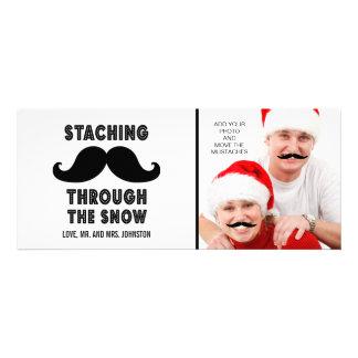 Spaß-frohe Weihnacht-Schnurrbart-Foto-Karte Personalisierte Ankündigungskarten