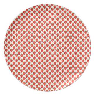 Spaß-Frucht-rote Erdbeermuster-Platte Teller