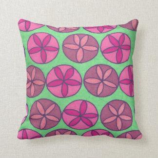 Spaß-Frühlings-Blumen-Rosa-und Grün-Druck-Kissen Kissen