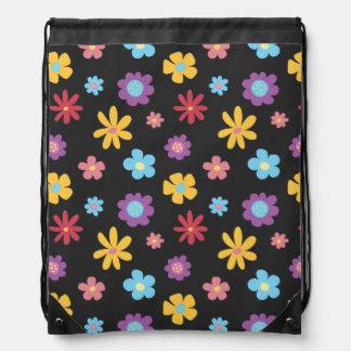 Spaß-Funky Frühlings-Blumen-Muster Turnbeutel