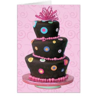 Spaß-Geburtstags-Kuchenkarte Karte