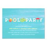 Spaß-Geburtstags-Pool-Party Einladung