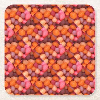 Spaß-Gelee-Bohnen-Süßigkeits-quadratisches Rechteckiger Pappuntersetzer