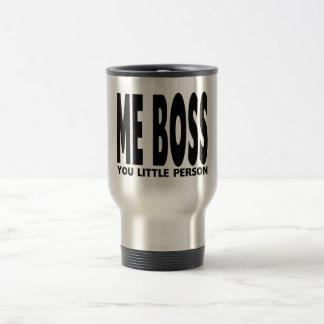 Spaß-Geschenke für Chefs: Ich Chef Sie kleine Edelstahl Thermotasse