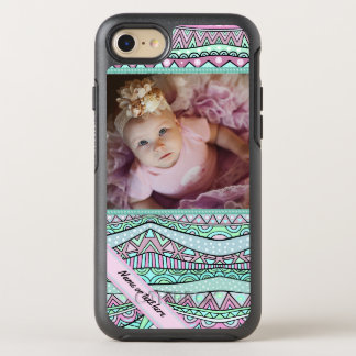 Spaß-Girly geometrisches Pastellmuster OtterBox Symmetry iPhone 7 Hülle