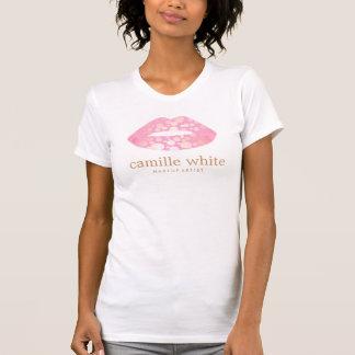 Spaß-Girly Maskenbildner-Rosa und Goldlippen T-Shirt