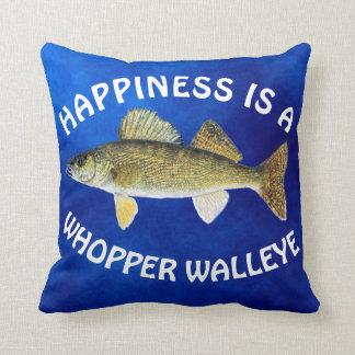 """Spaß """"Glück ist"""" Hornhautfleck Pike auf Blau Kissen"""