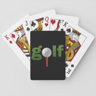 Spaß-Golf-Sport-Entwurf Spielkarten