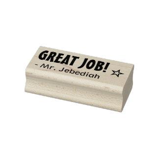 """Spaß """"GROSSER JOB!"""" Empfehlungs-Gummi-Briefmarke Gummistempel"""