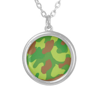Spaß-Grün-Mischungs-Camouflage Versilberte Kette