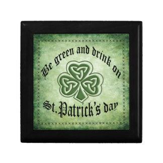 Spaß grundge irisches glückliches Kleeblatt Erinnerungskiste