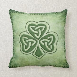 Spaß grundge irisches glückliches Kleeblatt Kissen