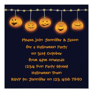 Spaß-Halloween-Party-Einladungs-Jack O Laternen Quadratische 13,3 Cm Einladungskarte