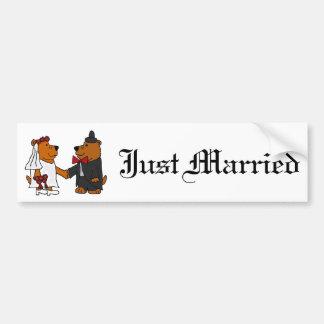 Spaß-Hochzeits-Braut-und Bräutigam-Braunbären Autoaufkleber