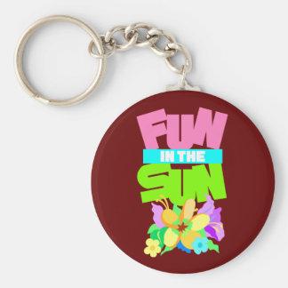 Spaß im Sun Standard Runder Schlüsselanhänger