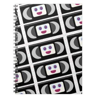 Spaß-Jahr-Videobänder Spiral Notizblock