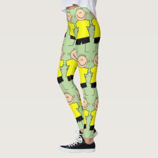 Spaß-Jungen-Strichmännchen-Muster-Gamaschen Leggings