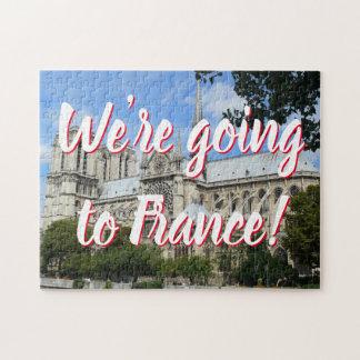 Spaß-Kathedrale von Notre Dame in Paris-Mitteilung Puzzle