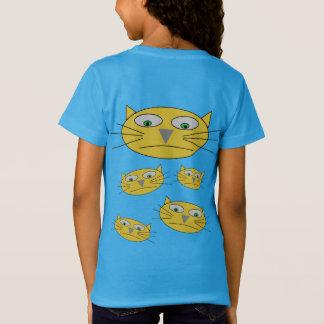 Spaß-Katzen-Kopf-Zeichnen T-Shirt