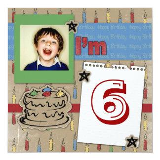 Spaß-Kerzen- und Geburtstagskuchen-Fotoeinladung Karte