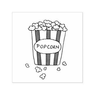 Spaß-Kino-Popcorn-Crafty Projekte Permastempel
