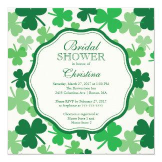 Spaß-Kleeblatt-irische Brautparty-Einladung Karte