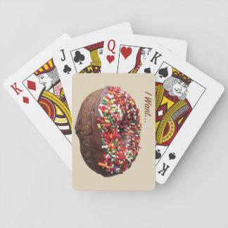 """Spaß-Krapfen-Spielkarten, """", das ich will """" Spielkarten"""